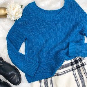 LOFT Chunky Blue Oversized Sweater Sz M